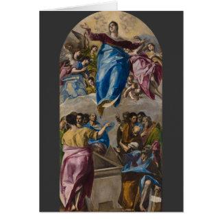 Cartes Acceptation de la Vierge par El Greco