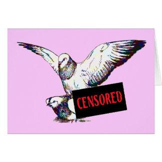 Cartes Accouplement de pigeons :  Censuré !