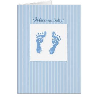 Cartes Accueil, bébé de félicitations