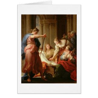 Cartes Achille à la cour du Roi Lycomedes avec son D