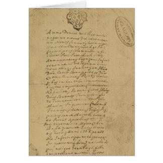 Cartes Acte de la naissance du napoléon, 1769