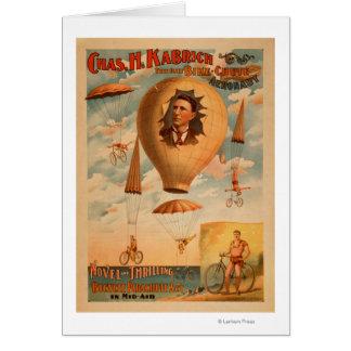 Cartes Acte de parachute de bicyclette dans le théâtre