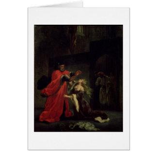 Cartes Acte I, scène 3 : Desdemona se mettant à genoux à