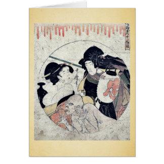 Cartes Acte onze du Chushingura par Kitagawa, Utamaro