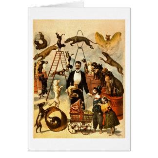 Cartes Acte qualifié 1899 de chien - affiche vintage de