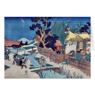 Cartes Acte six de Kanadehon Chushingura par Utagawa,
