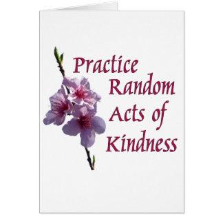 Cartes Actes aléatoires de pratique de la gentillesse