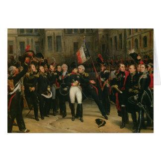 Cartes Adieu de offre du napoléon I à l'impérial
