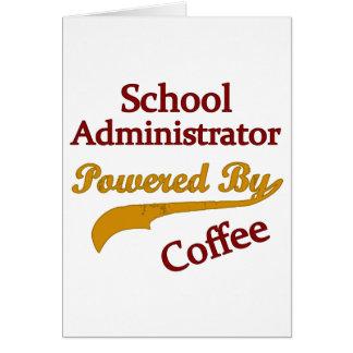Cartes Administrateur scolaire actionné par le café