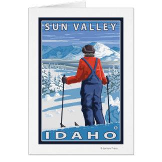 Cartes Admirer de skieur - Sun Valley, Idaho