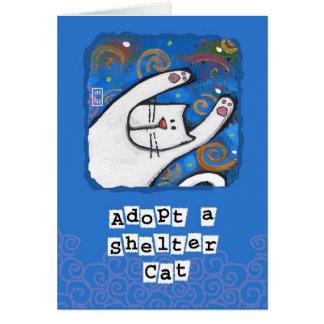 Cartes Adoptez un chat d'abri, aimez un chat