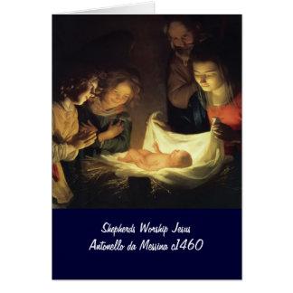 Cartes Adoration de Child Adorazion del Bambino