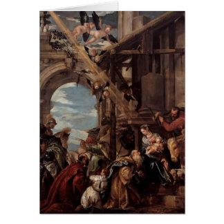 Cartes Adoration de Paolo Veronese- des Magi