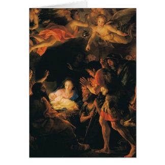 Cartes Adoration des anges des bergers W