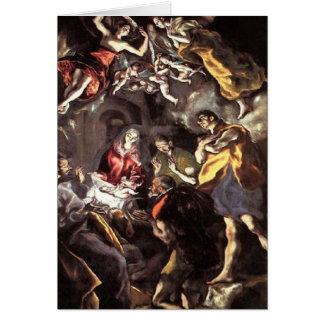 Cartes Adoration des bergers - El Greco