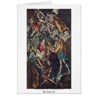 Cartes Adoration des bergers par EL de Greco