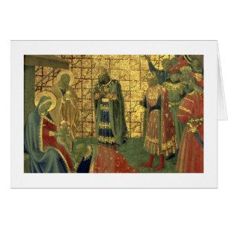Cartes Adoration des Magi, détail d'un carreau de