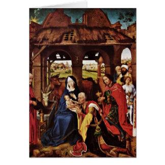 Cartes Adoration des Magi par Rogier van der Weyden