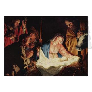 Cartes Adoration par les bergers par Gerard van Honthorst