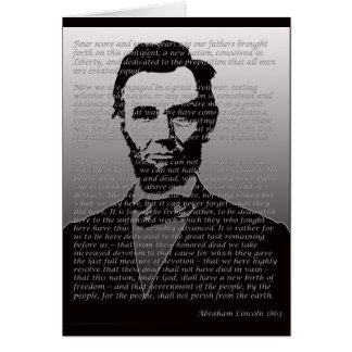 Cartes Adresse d'Abraham Lincoln Gettysburg