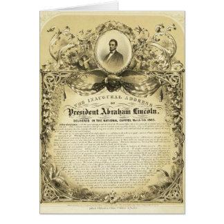 Cartes Adresse inaugurale d'Abraham Lincoln le 4 mars