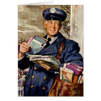 Cartes Affaires vintages, facteur fournissant des lettres