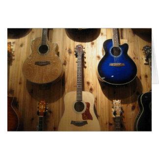 Cartes affichage de guitare