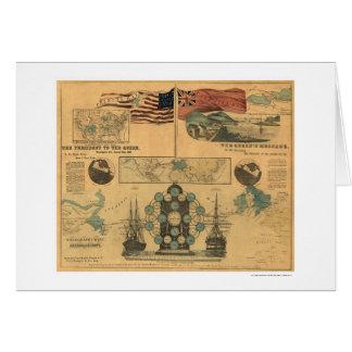 Cartes Affiche 1858 de diagramme de télégraphe