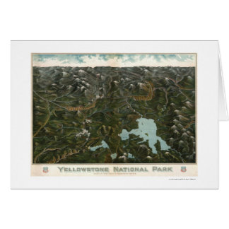 Cartes Affiche 1902 de parc national de Yellowstone