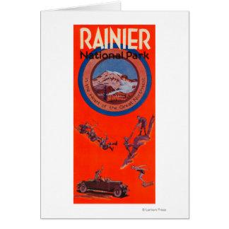 Cartes Affiche 2 de la publicité du mont Rainier