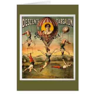Cartes Affiche de cirque de Mlle Stena Flying Trapese