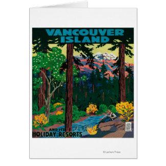 Cartes Affiche de la publicité d'île de Vancouver