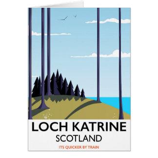 Cartes Affiche de voyage de l'Ecosse de katrine de loch