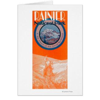 Cartes Affiche du mont Rainier - équitation