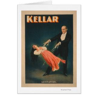 Cartes Affiche magique #2 de lévitation de Kellar
