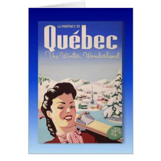 Cartes Affiche vintage de ski, Québec, pays des
