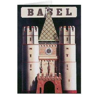 Cartes Affiche vintage de voyage de Bâle