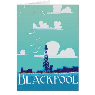 Cartes Affiche vintage de voyage de Blackpool, Angleterre
