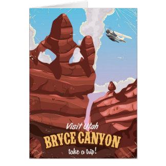 Cartes Affiche vintage de voyage de canyon de Bryce
