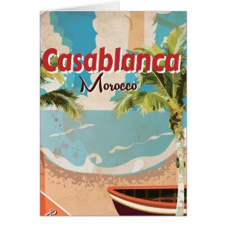 Cartes Affiche vintage de voyage de Casablanca