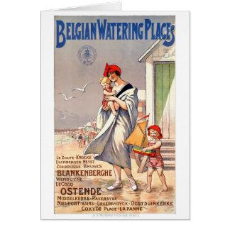 Cartes Affiche vintage de voyage de la Belgique Ostende