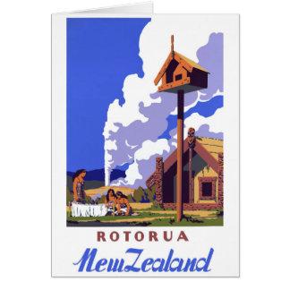 Cartes Affiche vintage de voyage de la Nouvelle Zélande