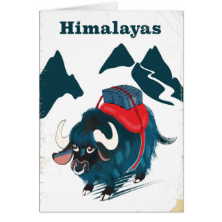 Cartes Affiche vintage de voyage de l'Himalaya