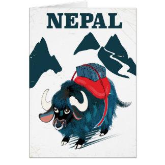 Cartes Affiche vintage de voyage de style de yaks du