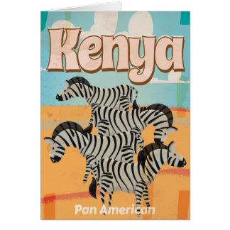 Cartes Affiche vintage de voyage du Kenya