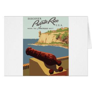 Cartes Affiche vintage Porto Rico de voyage
