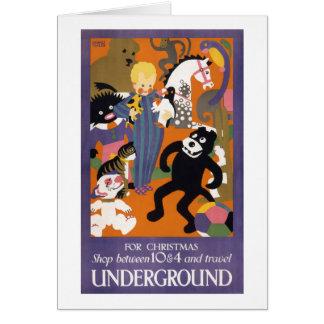 Cartes Affiche vintage souterraine de transport de
