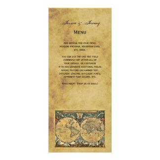 Cartes affligées antiques du menu #3 de carte du m faire-parts