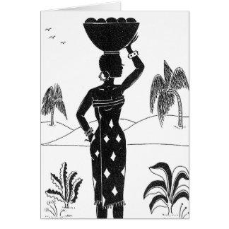 Cartes africaines de silhouette de fille