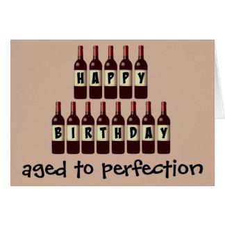 Cartes Âgé anniversaire d'amateur de vin de perfection au